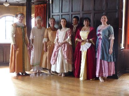 A historical dance class in Oxford
